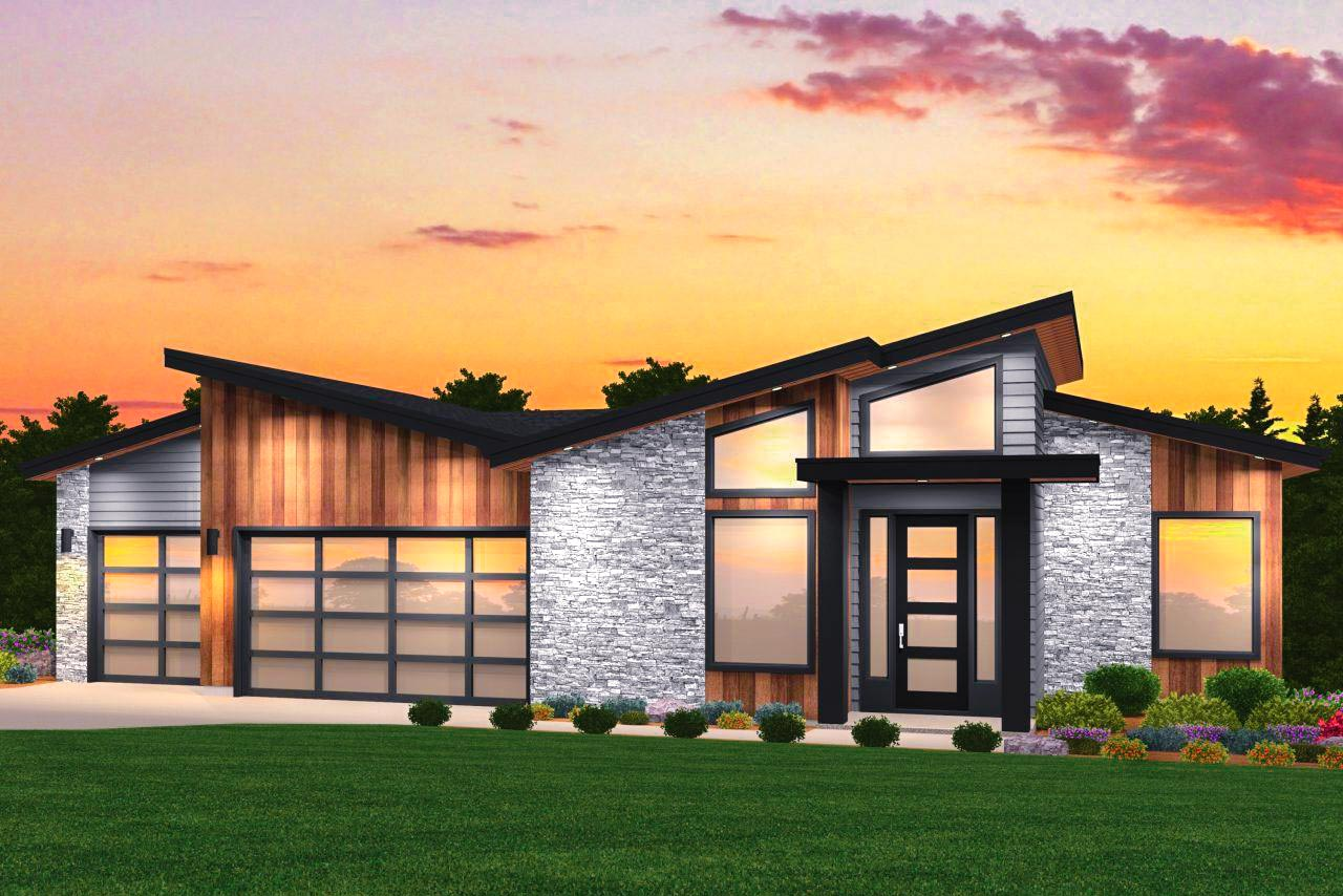 Modern House Plan With Exciting Curb Appeal