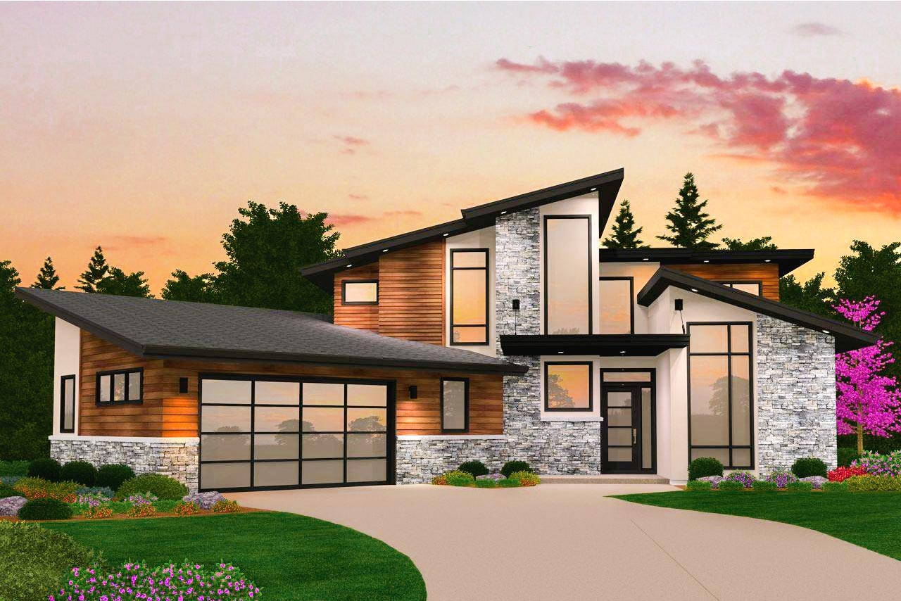 Dynamic 4 Bed Modern House Plan with Vaulted Spaces ...