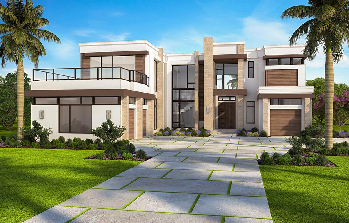 Marvelous Contemporary House Plan with Options - 86052BW  Architectural Designs - House Plans