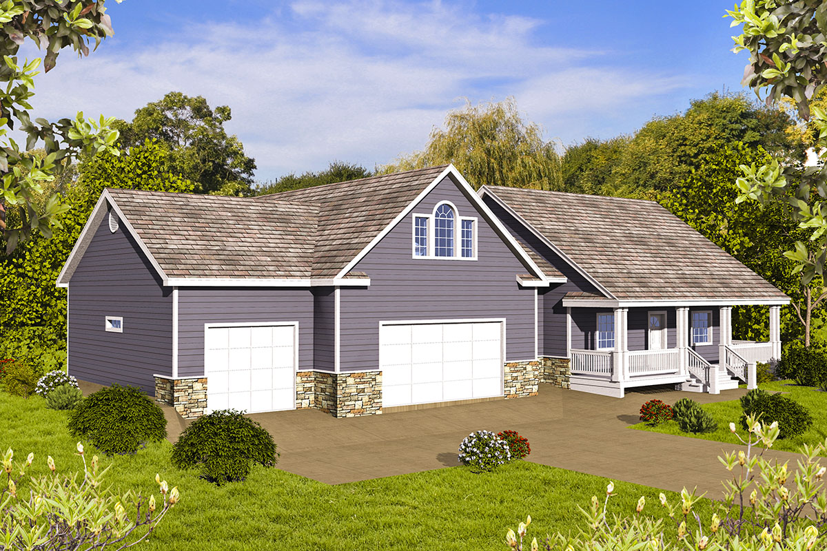 Ranch House Plan For A Sloping Lot 35545gh Architectural Designs House Plans
