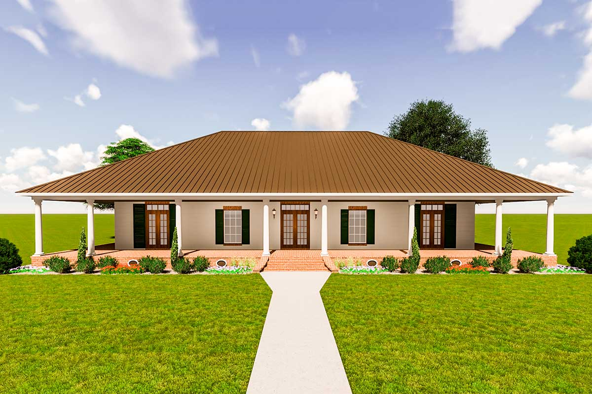 Southern Beauty With Wrap Around Porch 83900jw