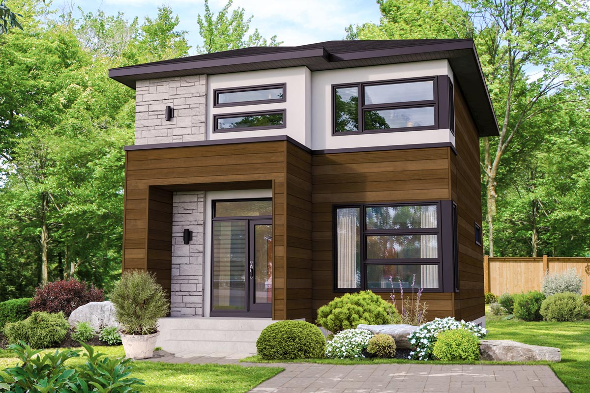 Compact Two-Story Northwest House Plan