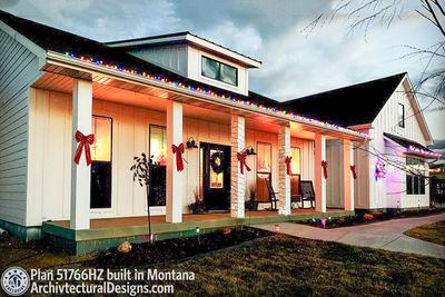 Exclusive Modern Farmhouse Plan 51766HZ comes to life in Montana - photo 001
