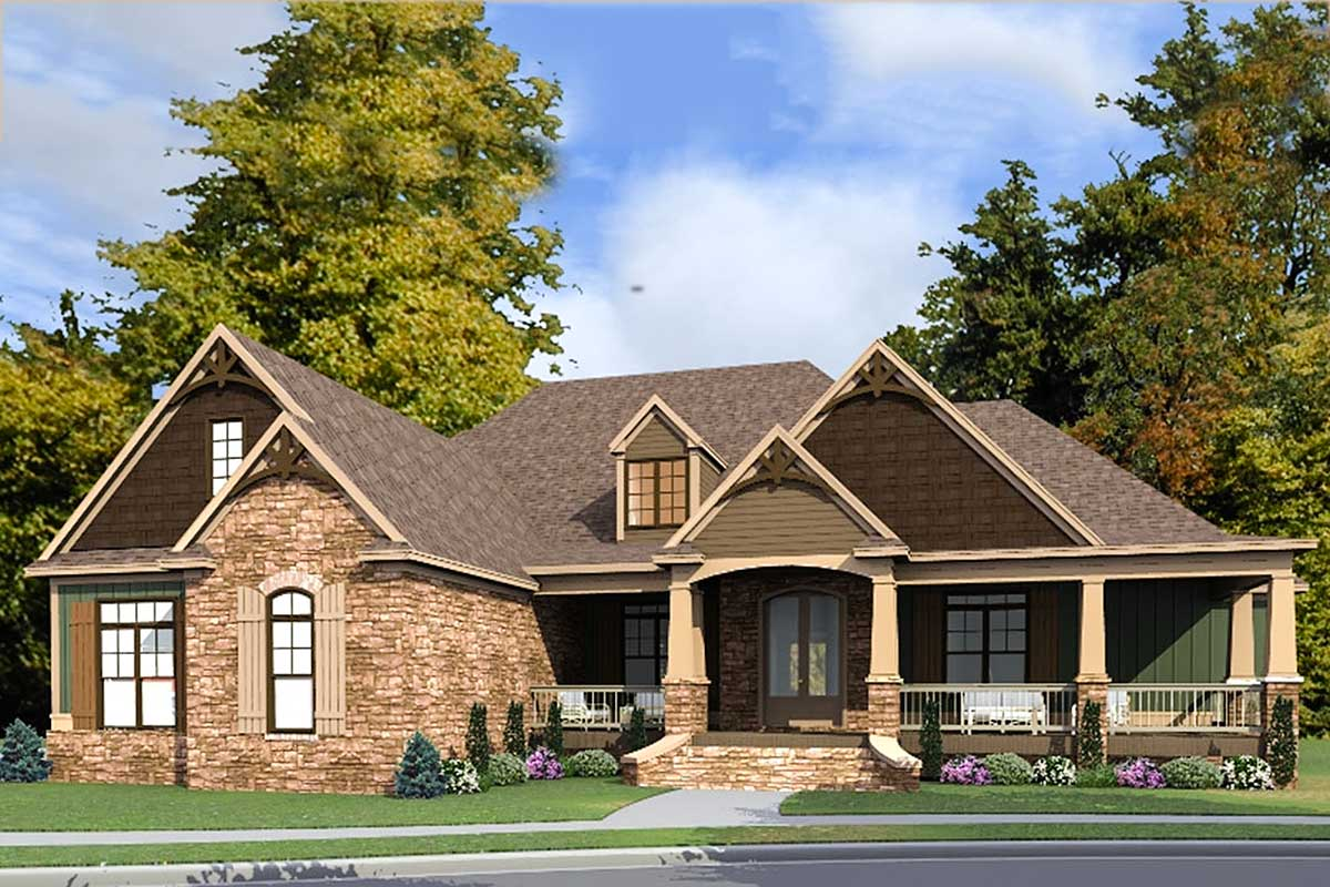 Craftsman Farmhouse House Plan - 86300HH | Architectural ...
