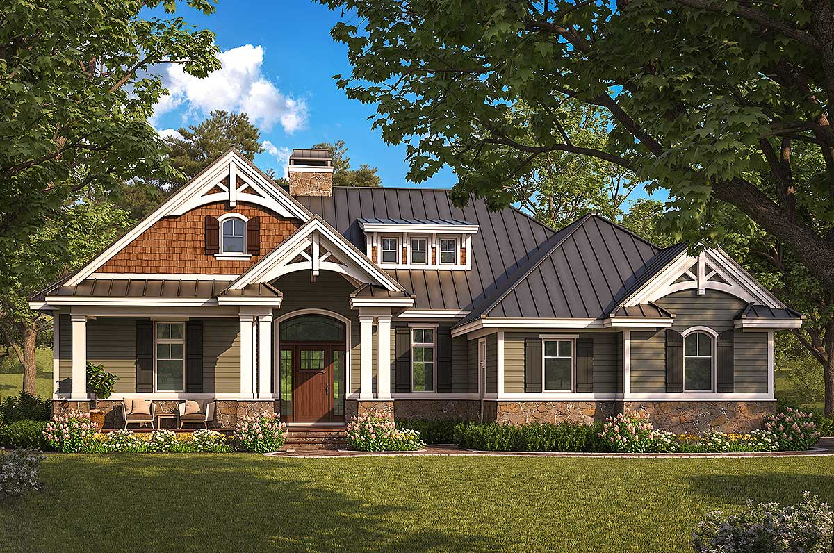 Exquisite Two Bedroom Craftsman House Plan Architectural Designs Plans