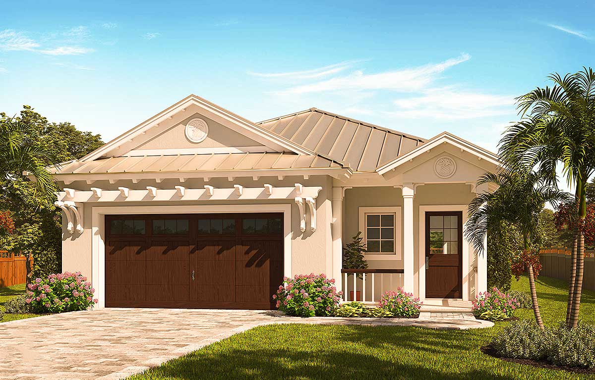 home plans for small lots narrow lot florida house plan 66386we architectural designs house plans 235