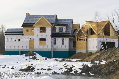 House Plan 16898WG Coming To Life In Michigan! - photo 035
