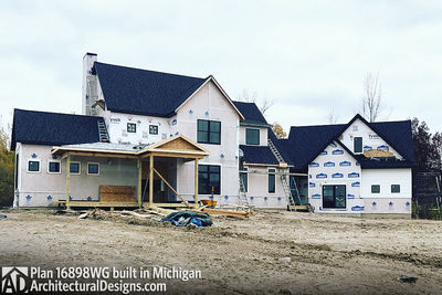 House Plan 16898WG Coming To Life In Michigan! - photo 002