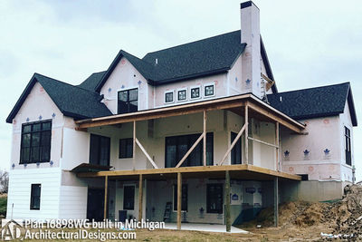 House Plan 16898WG Coming To Life In Michigan! - photo 003