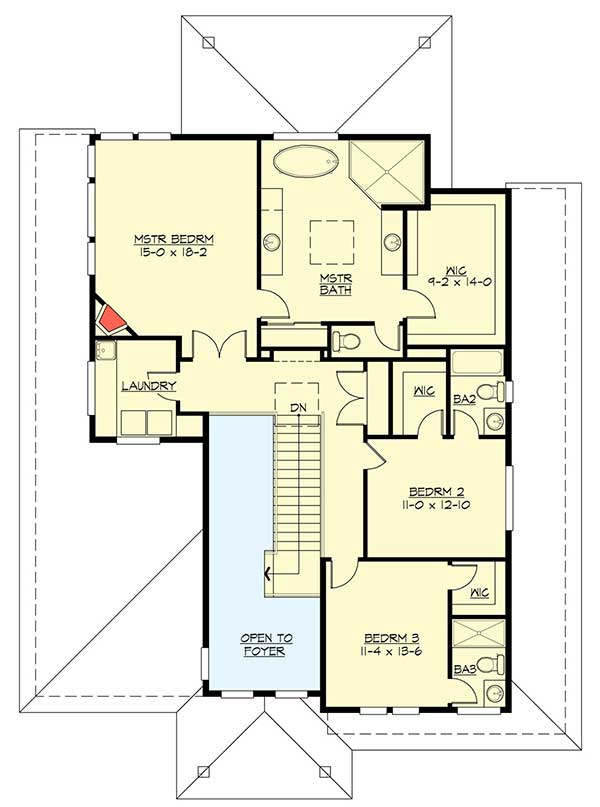 Modern Prairie House Plan With Tri Level Living 23694jd
