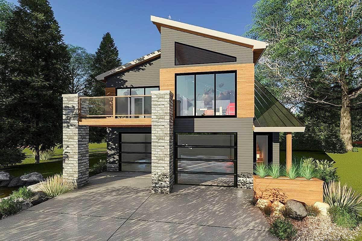 Ultra Modern Tiny House Plan 62695dj Architectural Designs House Plans