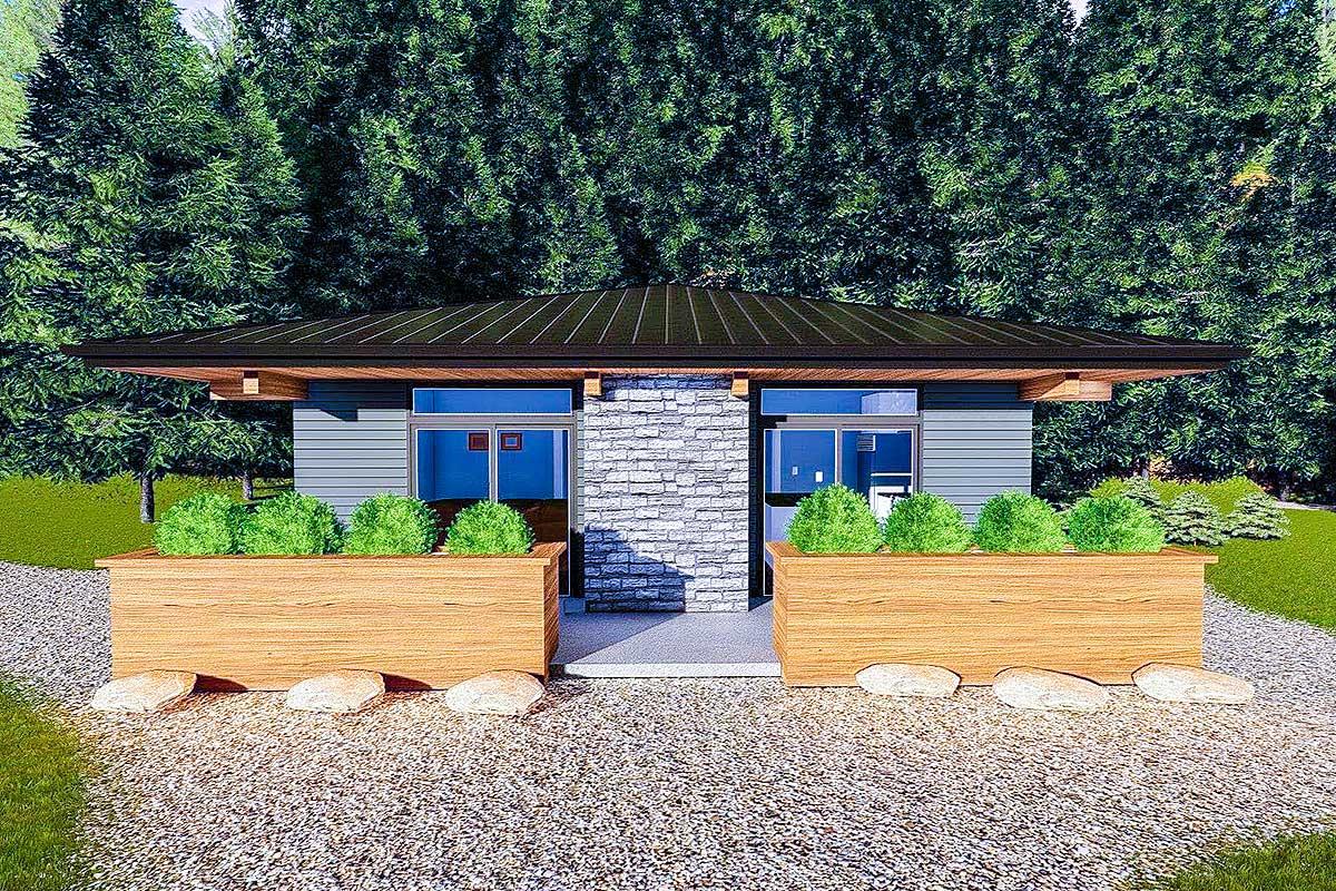 Tiny Prairie Style House Plan - 62706DJ