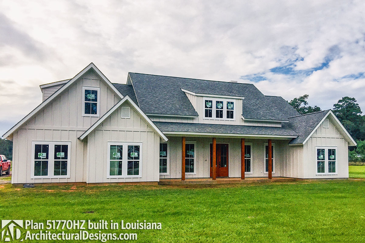 Exclusive House Plan 51770HZ comes to life in Louisiana - photo 001
