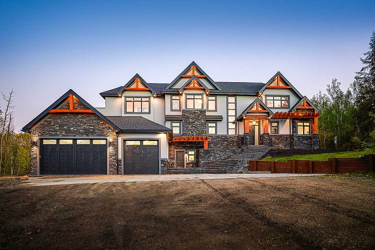 Rugged Modern Mountain Craftsman House Plan with Optional ...