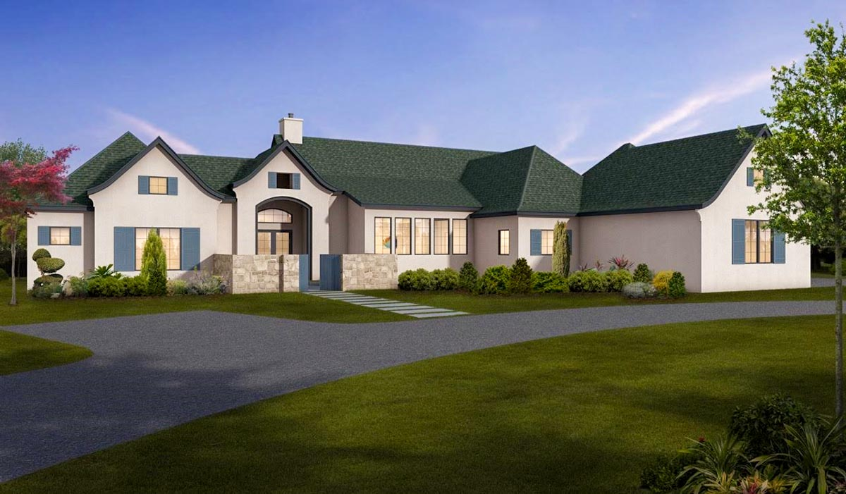 One Story European House Plan With Game Room 430026ly Architectural Designs House Plans