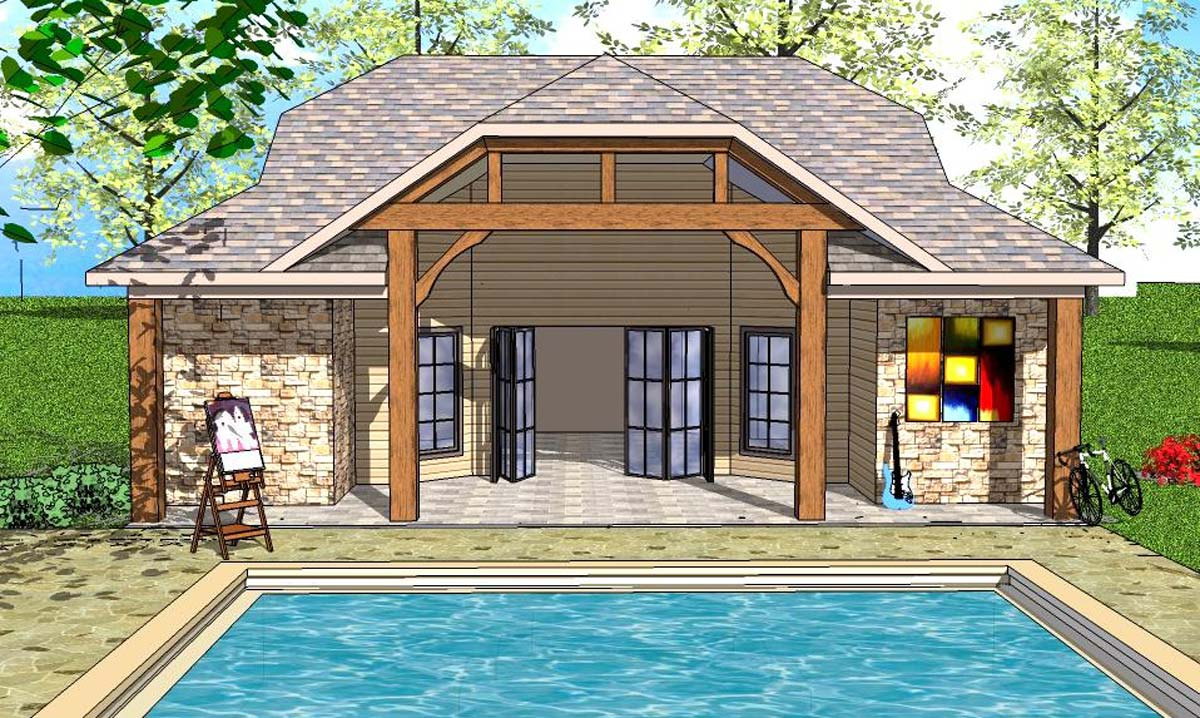Tiny Home Designs: Tiny House Plan With Vaulted Interior And Covered Porch