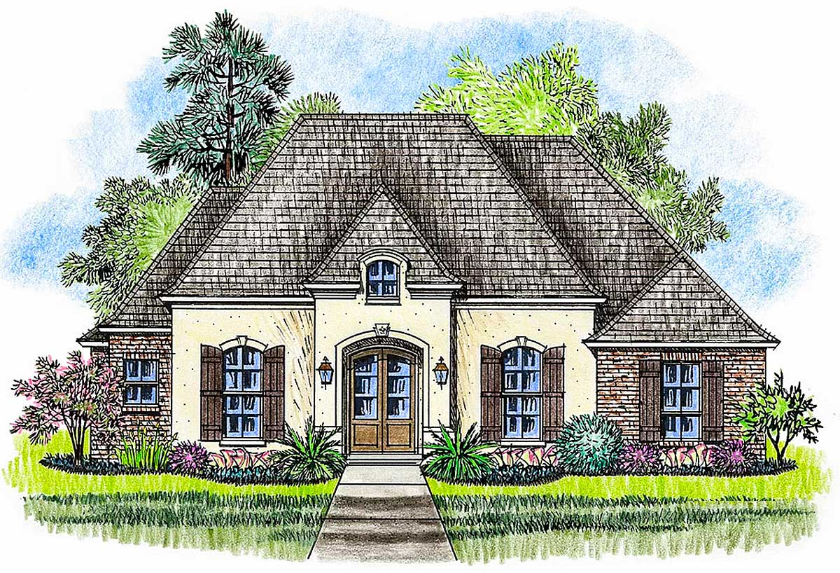 Graceful French Country House Plan - 56423SM ...