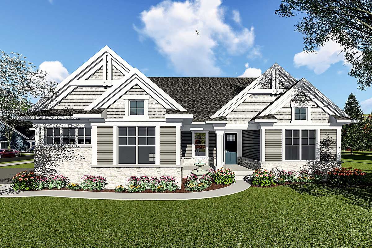 two bedroom ranch house plans two bedroom craftsman ranch house plan 890052ah architectural designs house plans 101