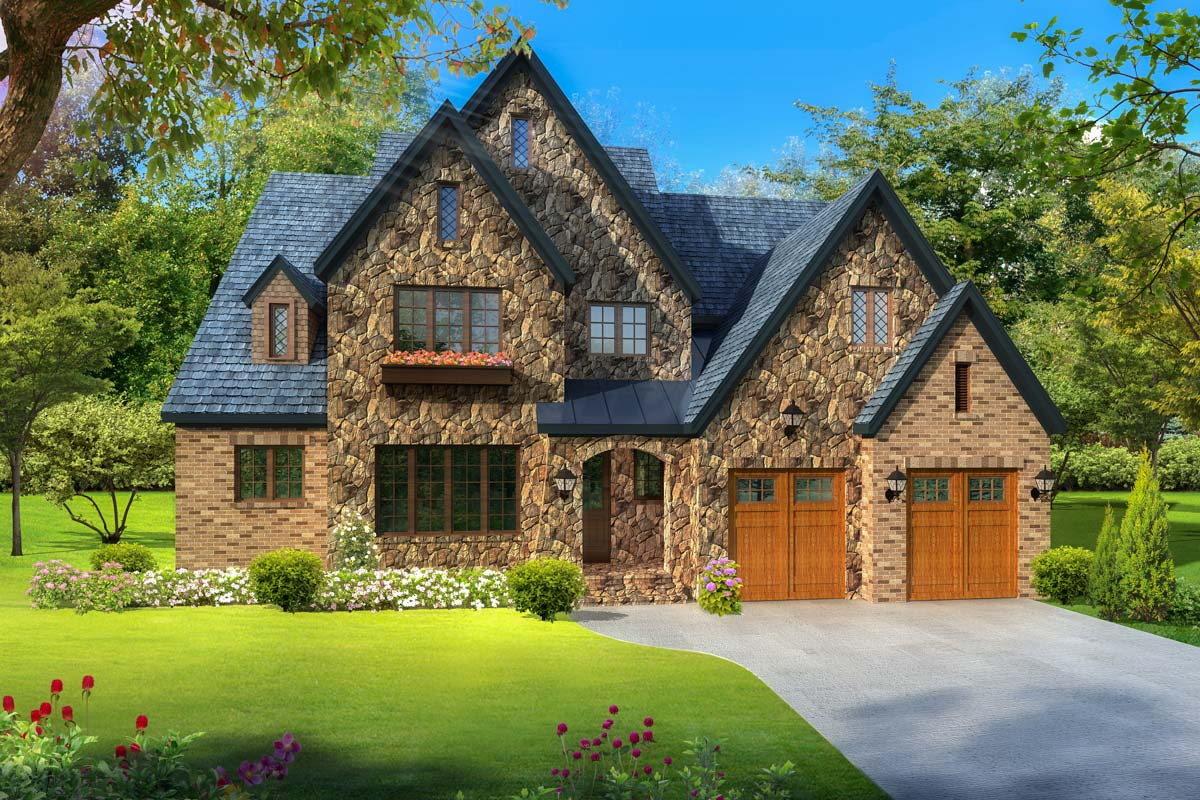 Exclusive Stone And Brick European Cottage 17818lv