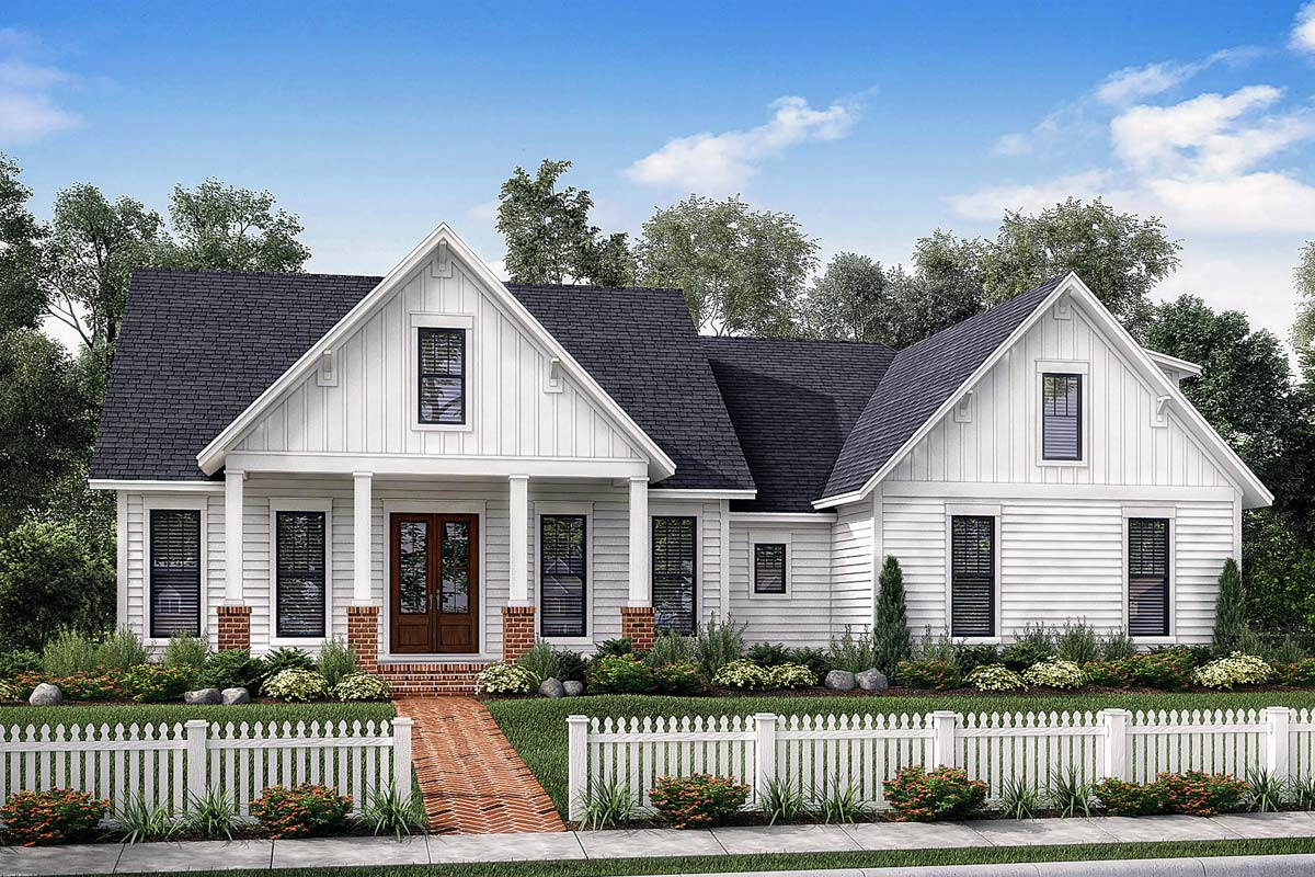 7 Popular Siding Materials To Consider: Exclusive Farmhouse With Bonus Room And Side Load Garage