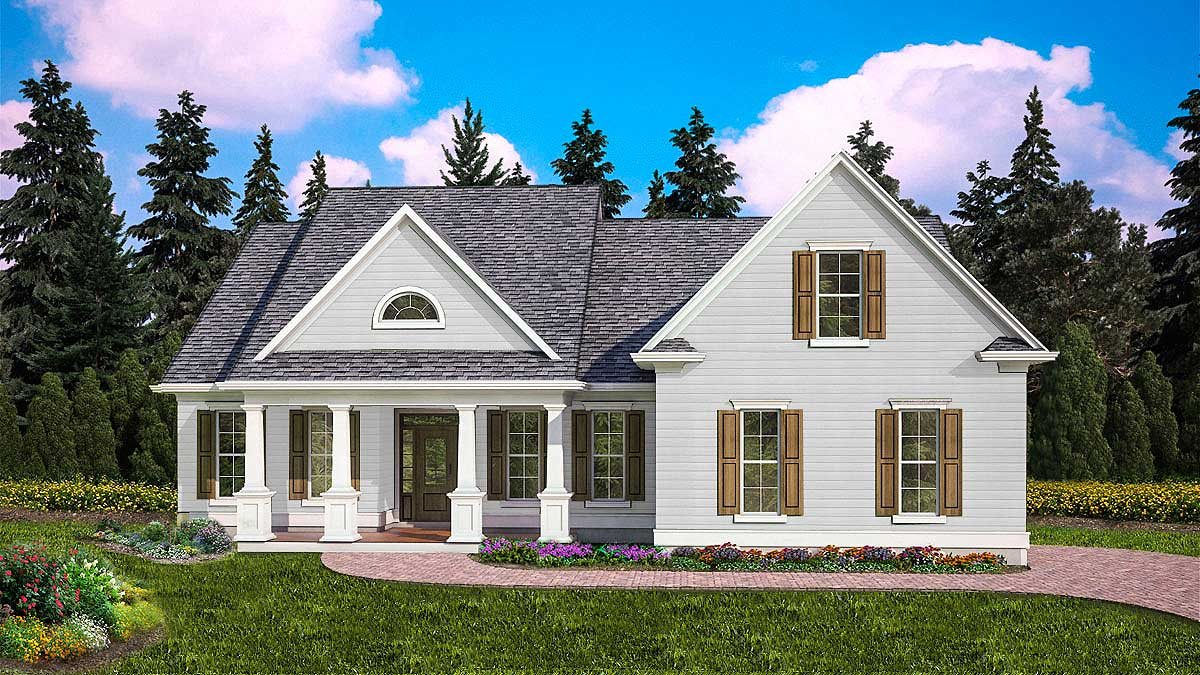 Charming Three Bed Farmhouse With Optional Bonus Room 25635ge Architectural Designs House