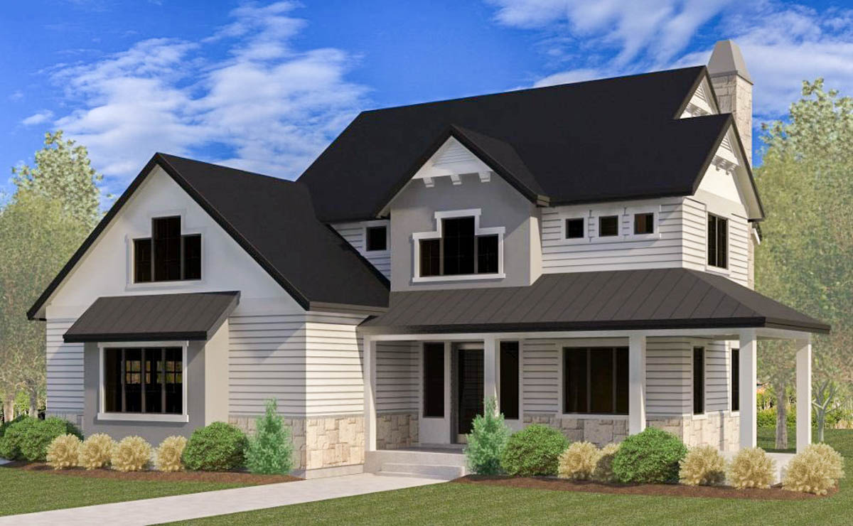 Four Bedroom Craftsman House Plan - 290046IY ...