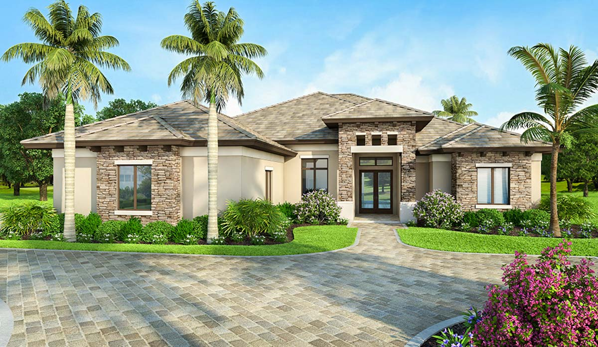 Contemporary Coastal 3-Bed Home Plan - 86054BW ...