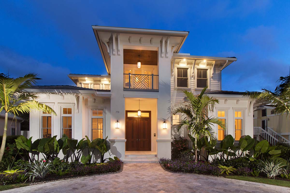 Bold and Beautiful with Second Floor Balconies - 86059BW ...