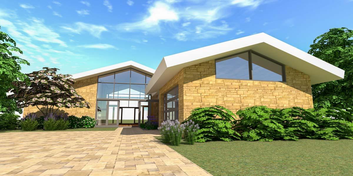 Modern Mid-Century Modern House Plan - 44149TD ...