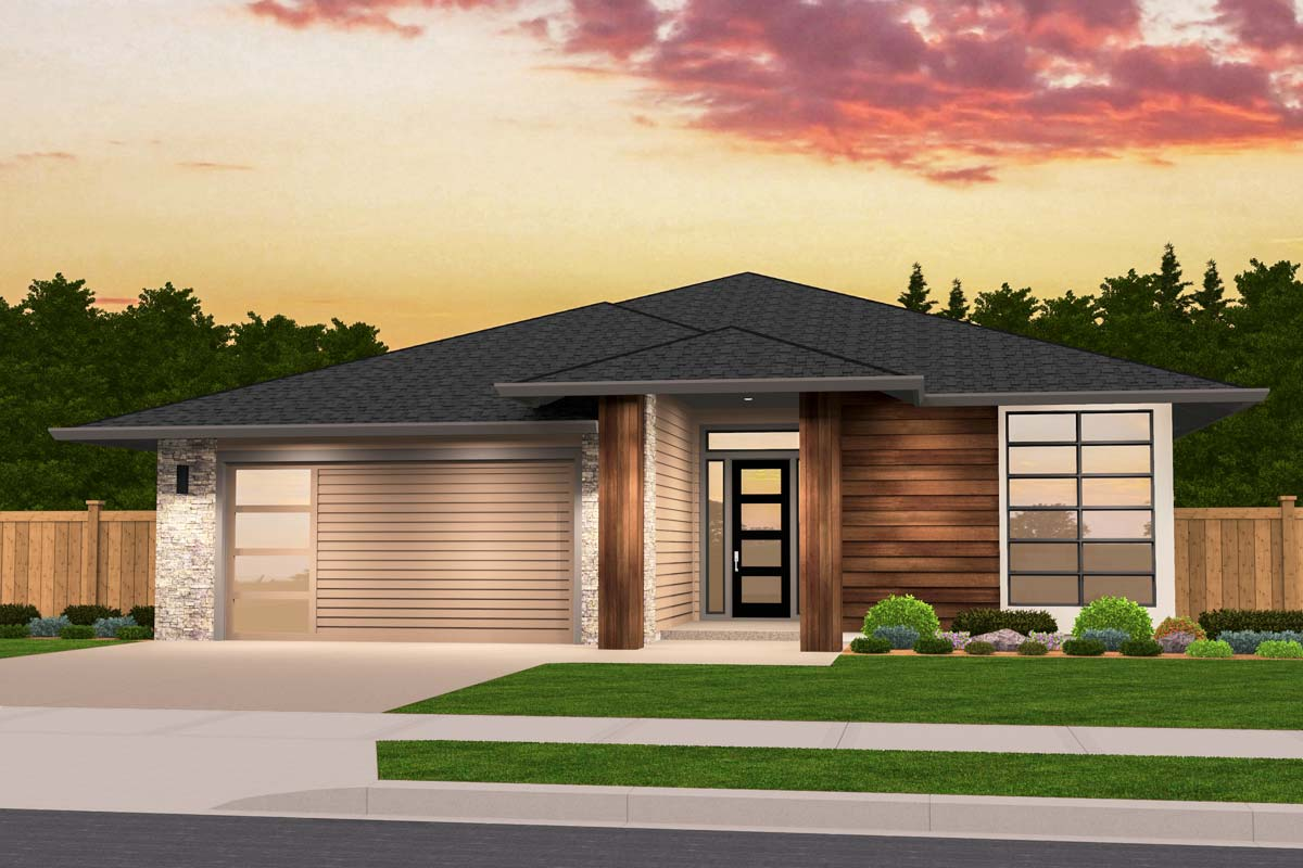 home plans one story exclusive one story prairie house plan with open layout 85235ms architectural designs 4003
