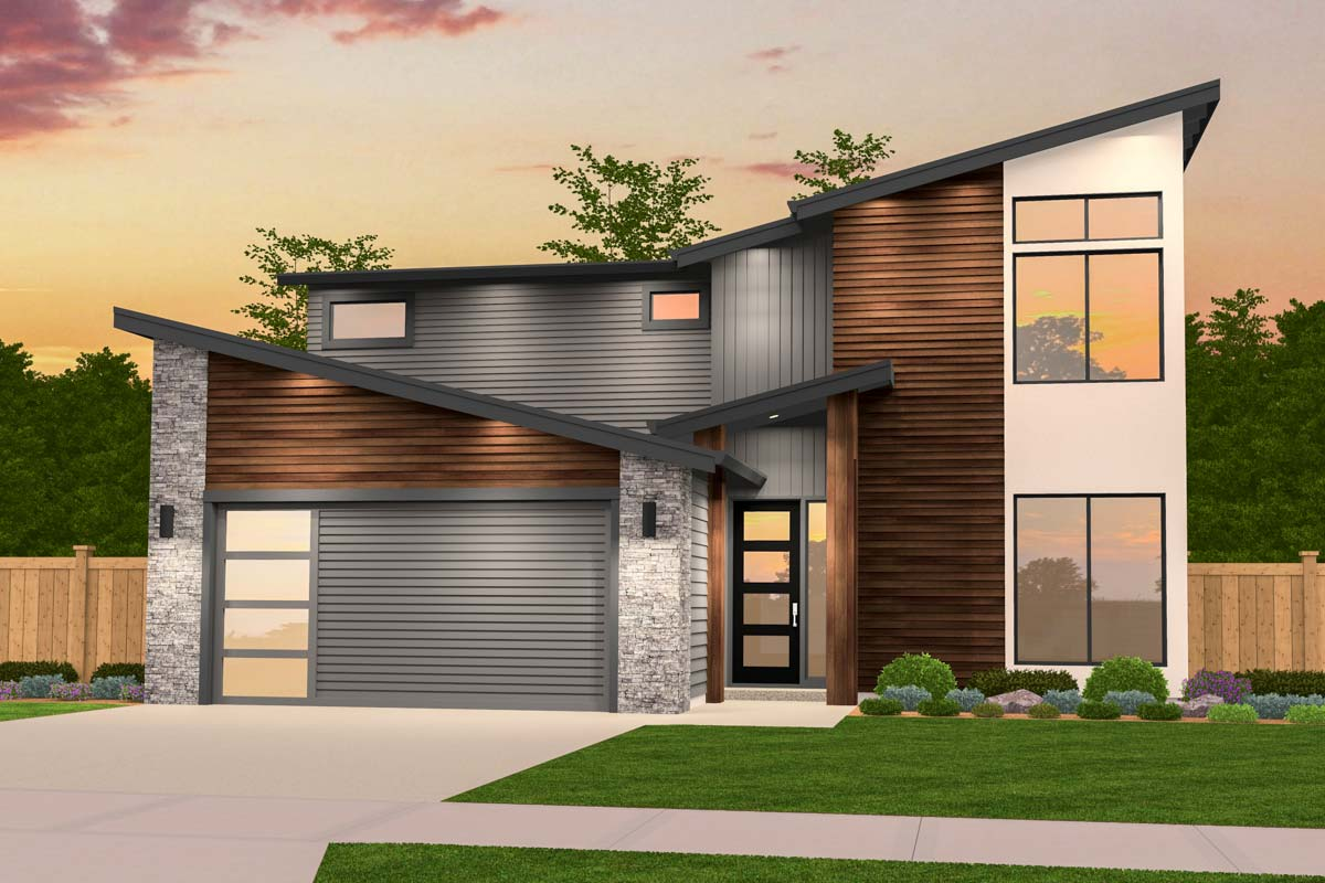 Exclusive Two-Story Contemporary House Plan - 85237MS ...