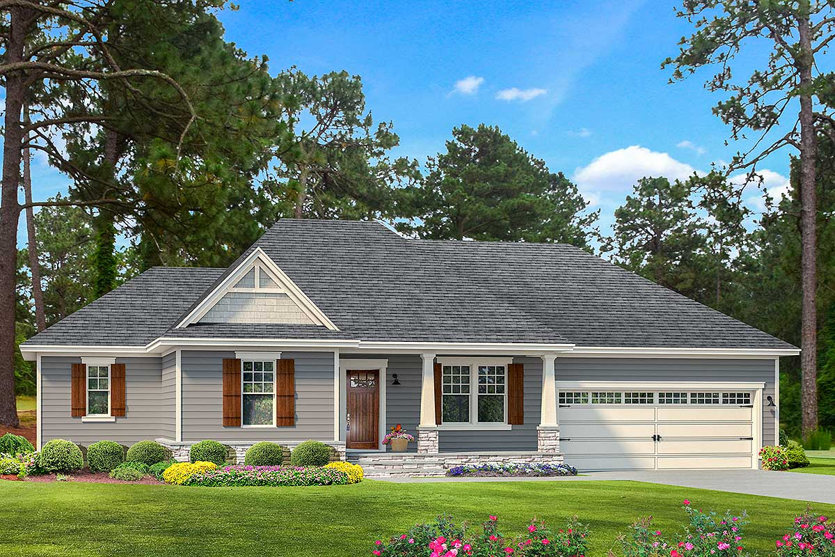 Split bedroom southern ranch home plan 62147v - What is a ranch house ...
