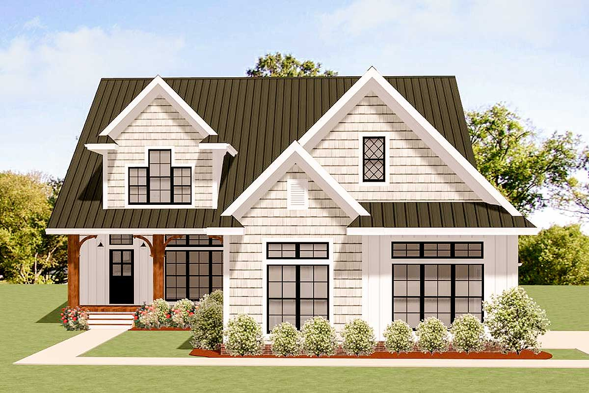 Home Design Plans: Charming Traditional House Plan With Options