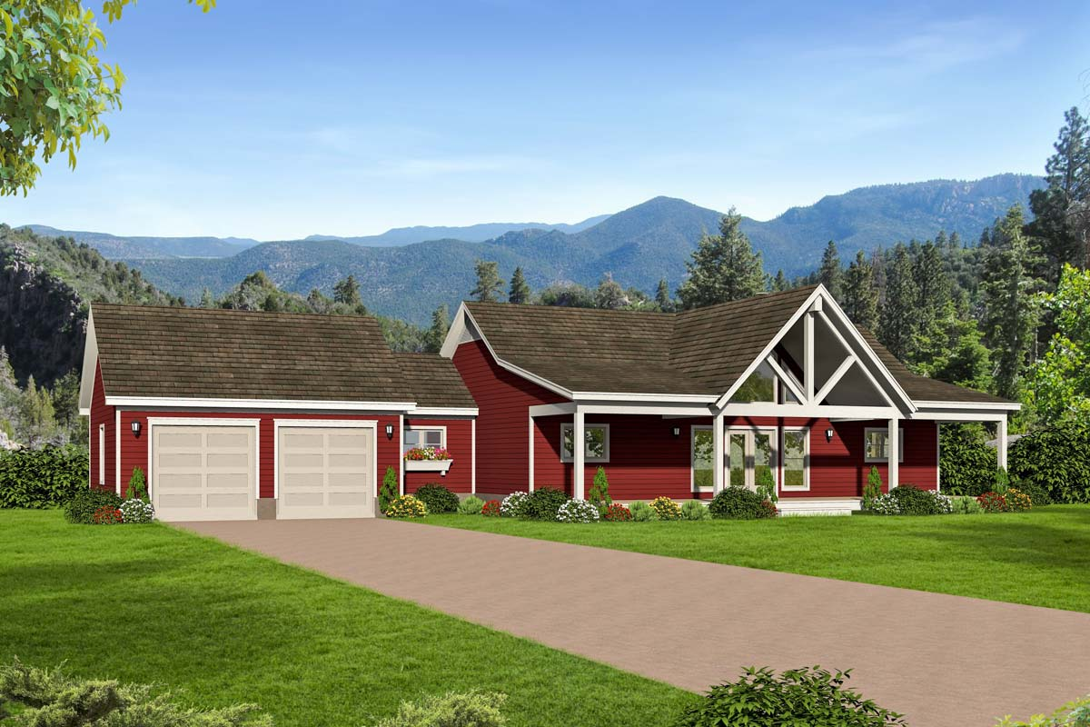 2-Bed Country Ranch Home Plan with Walkout Basement ...