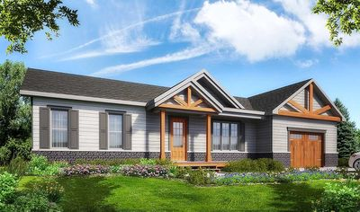 Plan 22477DR: Rugged Ranch Home Plan With Attached Garage on open floor plan ranch homes, vinyl sided ranch homes, vinyl siding ranch homes, brick exterior ranch homes, 3 bedroom ranch homes, 2 bedroom ranch homes, single story ranch homes,
