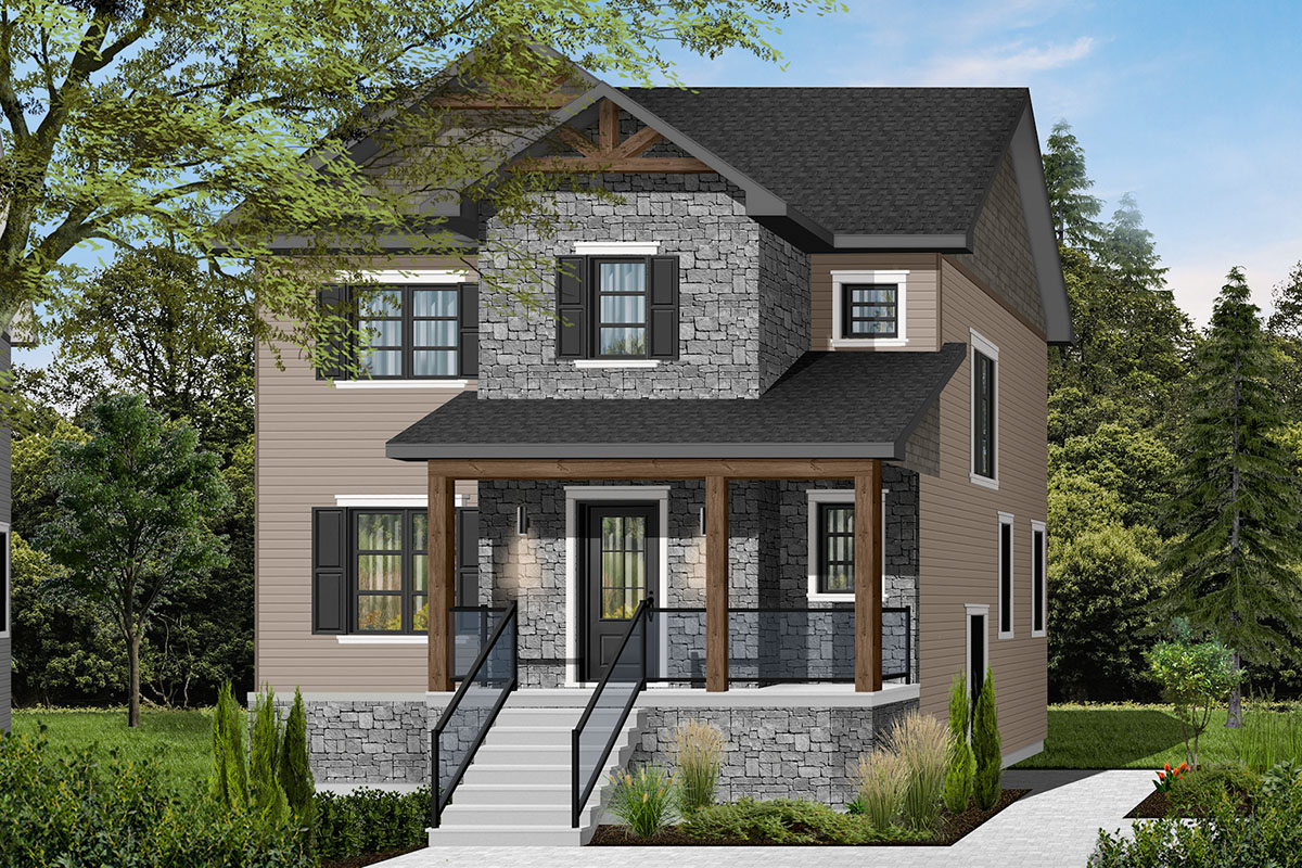 3 Bedroom Transitional House Plan with a Small Footprint ...