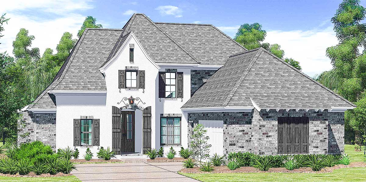 French Country House Plan With Open Floor Plan