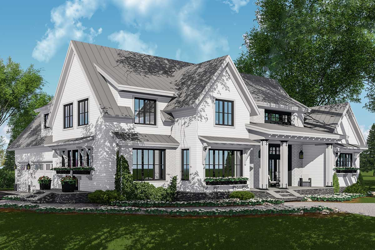 Modern Farmhouse Plan Rich with Features - 14662RK ...