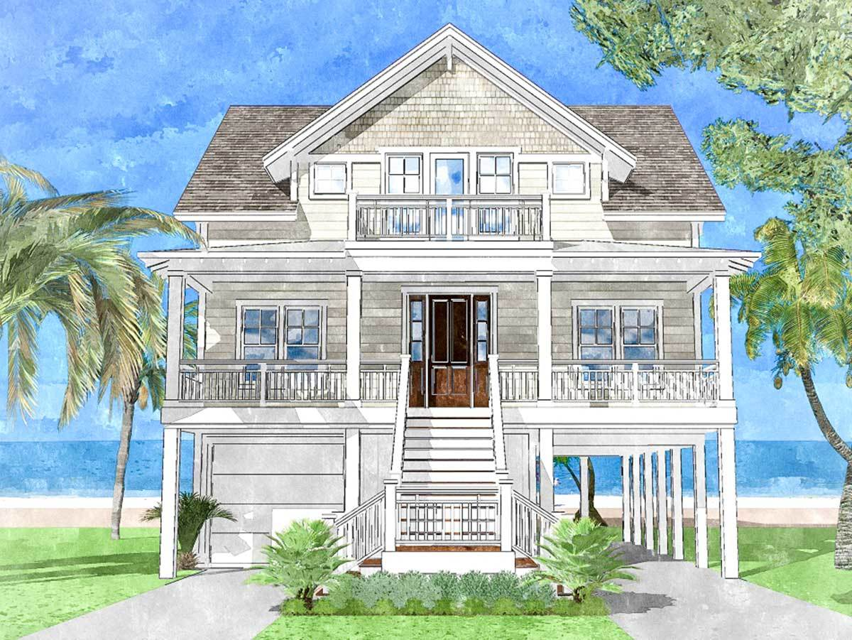 Beach House Plans - Architectural Designs on country house plans with a view, hillside house plans with a view, home with a view, living room with view, cabin plans with a view,