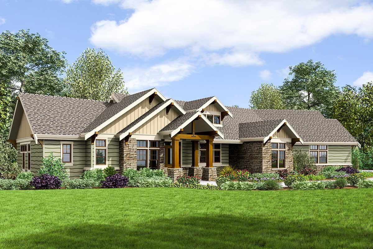 Handsome Craftsman House Plan - 69677AM | Architectural ...