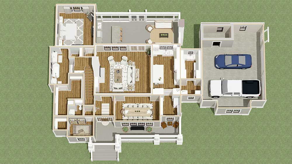 3 Bed Country Home Plan With Open Concept Core 130012lls Architectural Designs House Plans