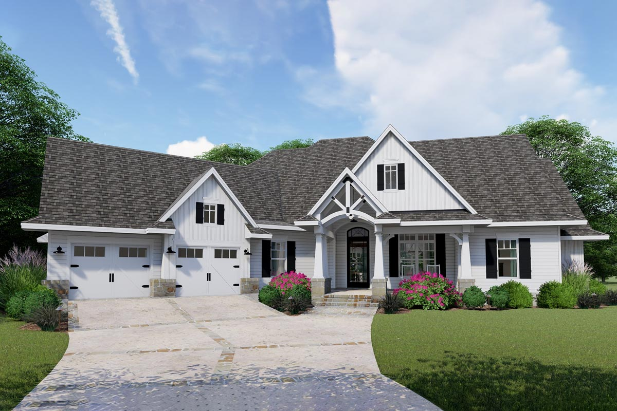 Exceptional Craftsman House Plan - 16902WG