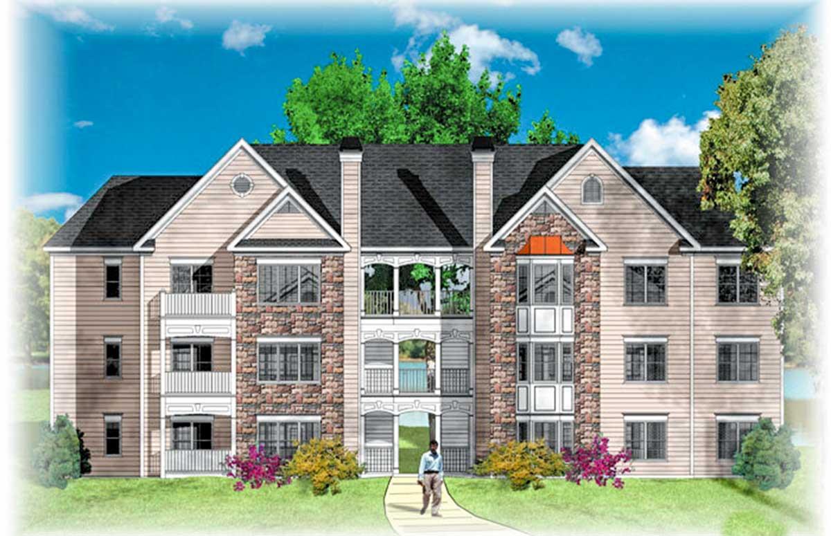 12-Unit Apartment Complex Plan - 83131DC | Architectural ...