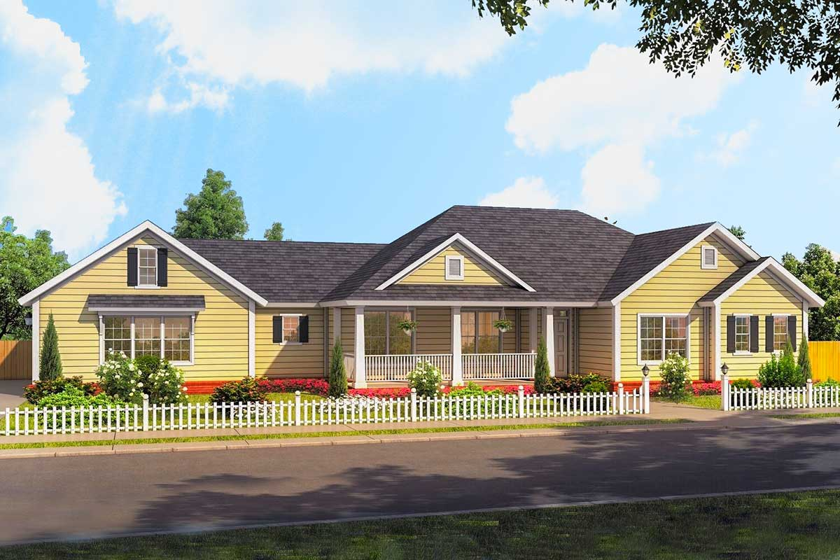 Country Ranch House Plan - 52289WM