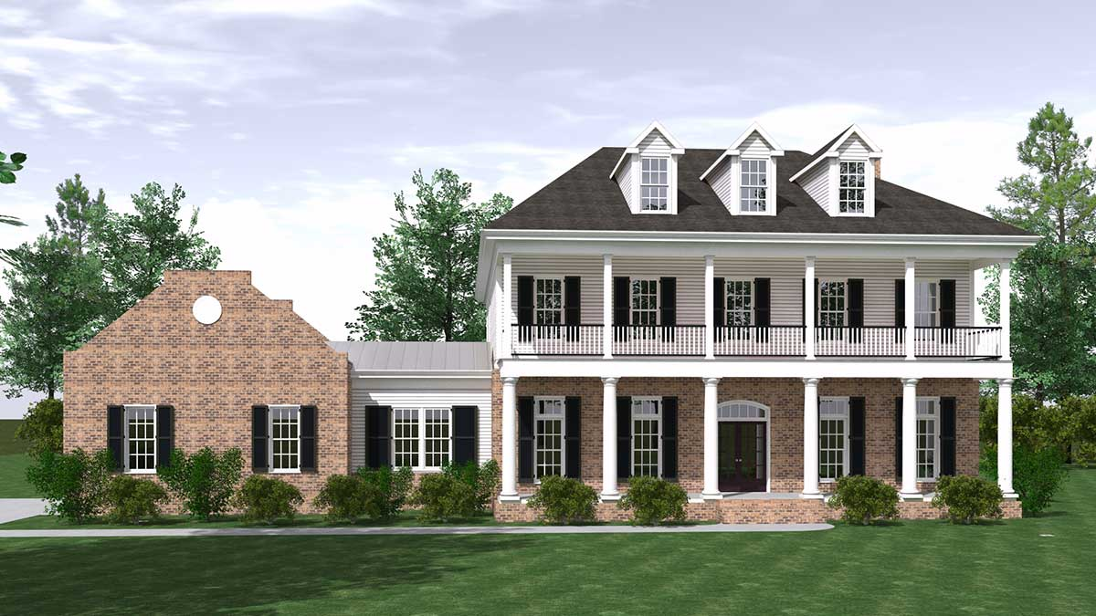 Southern Plantation House Plan - 830012DSR | Architectural ...