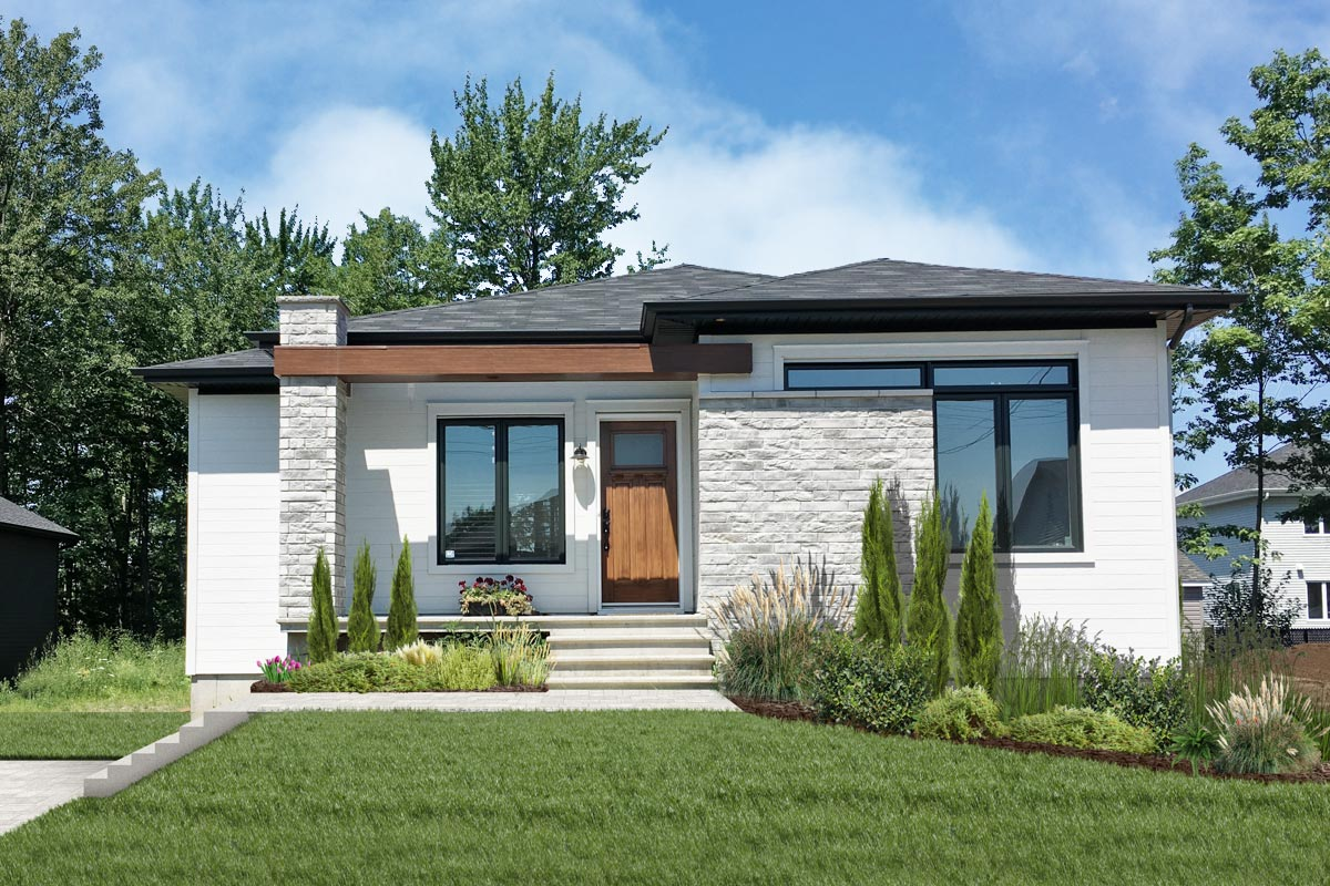 Modern Ranch Home Plan with Basement Expansion - 22496DR ...