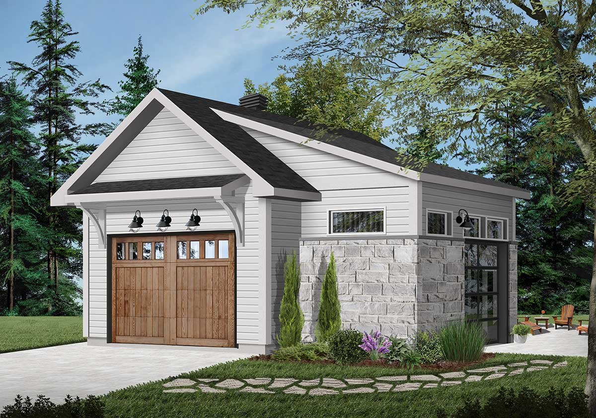 Detached Garage Plan With Interior Work Space