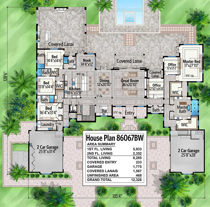 Plan 86067BW: Stunning 7-Bed Luxury House Plan on house plans 2 bed, house plans 3 bed, house plans min, house plans 6 bed, house plans garage, house plans 5 bed,