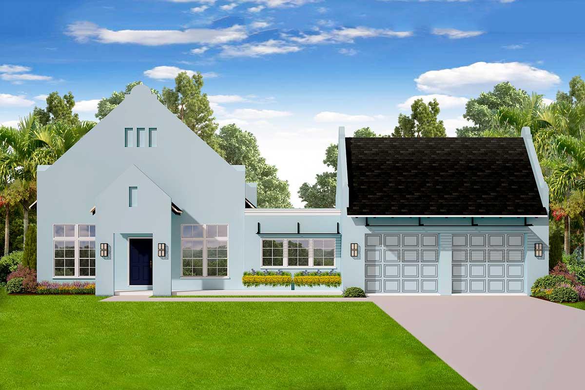 Versatile Single-Story 3-Bedroom Modern House Plan ...
