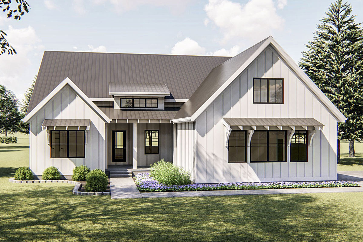One-Story 3-Bed Modern Farmhouse Plan - 62738DJ ...